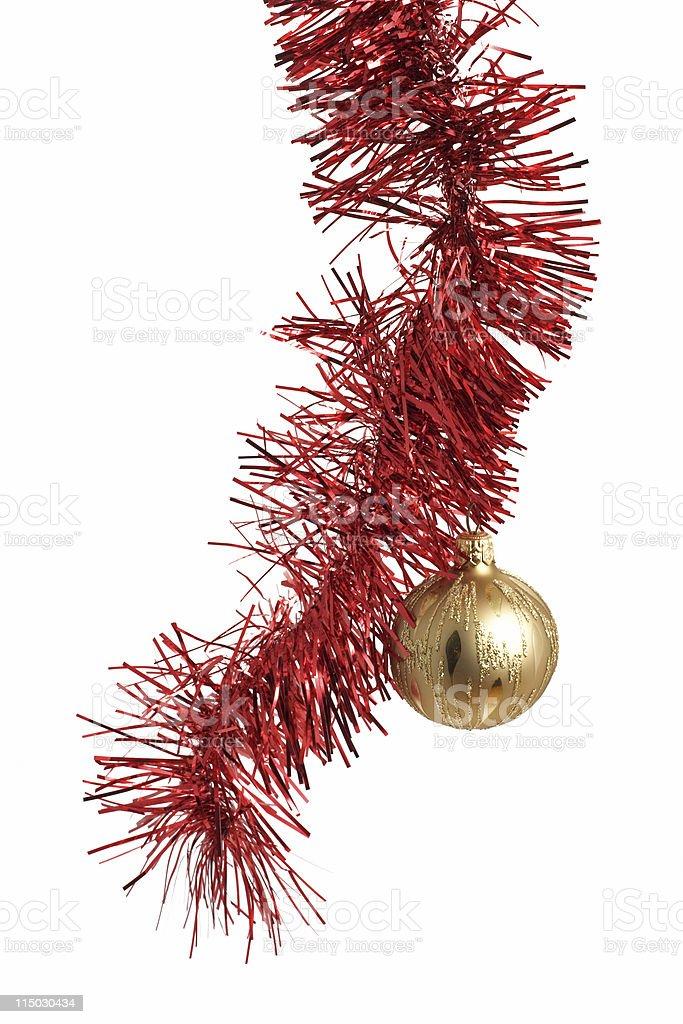 Christmas tinsel royalty-free stock photo