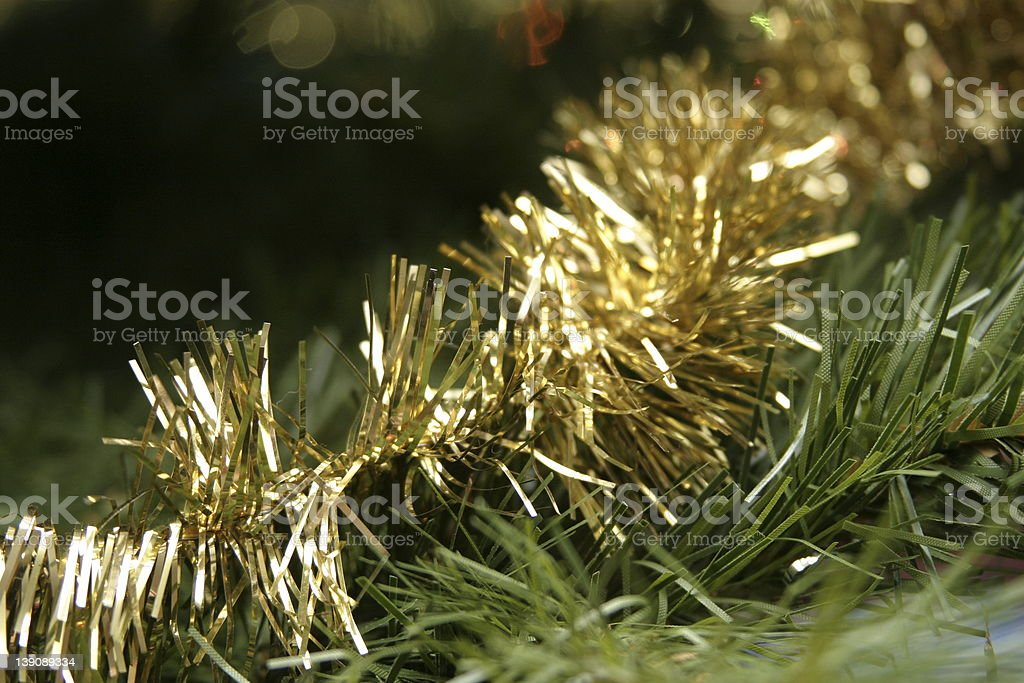 christmas tinsel stock photo