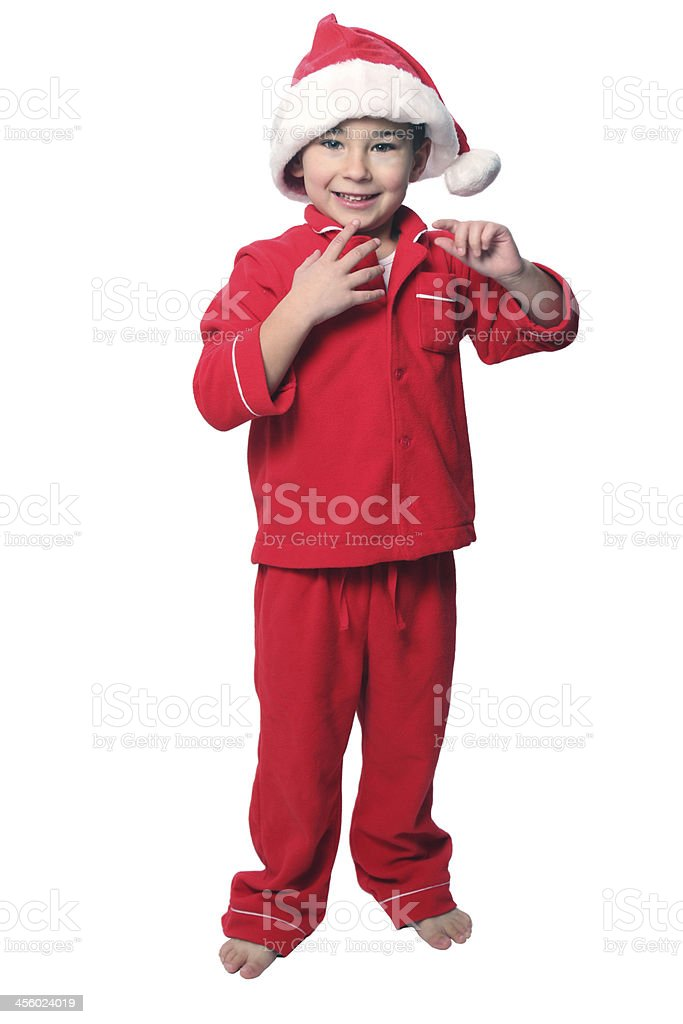 Christmas toddler stock photo