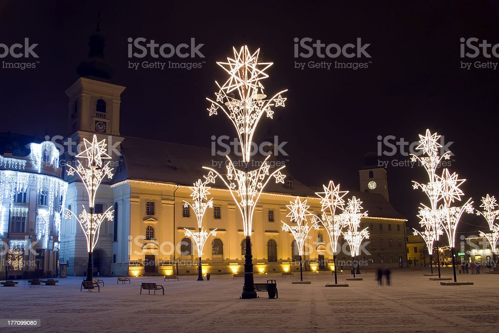 Christmas town decoration royalty-free stock photo