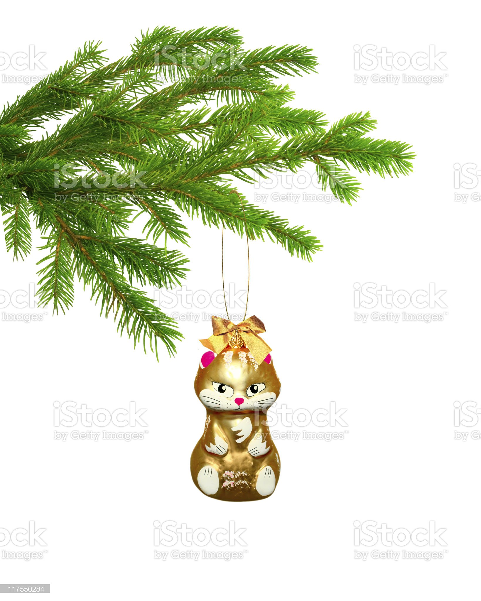 Christmas toy cat royalty-free stock photo