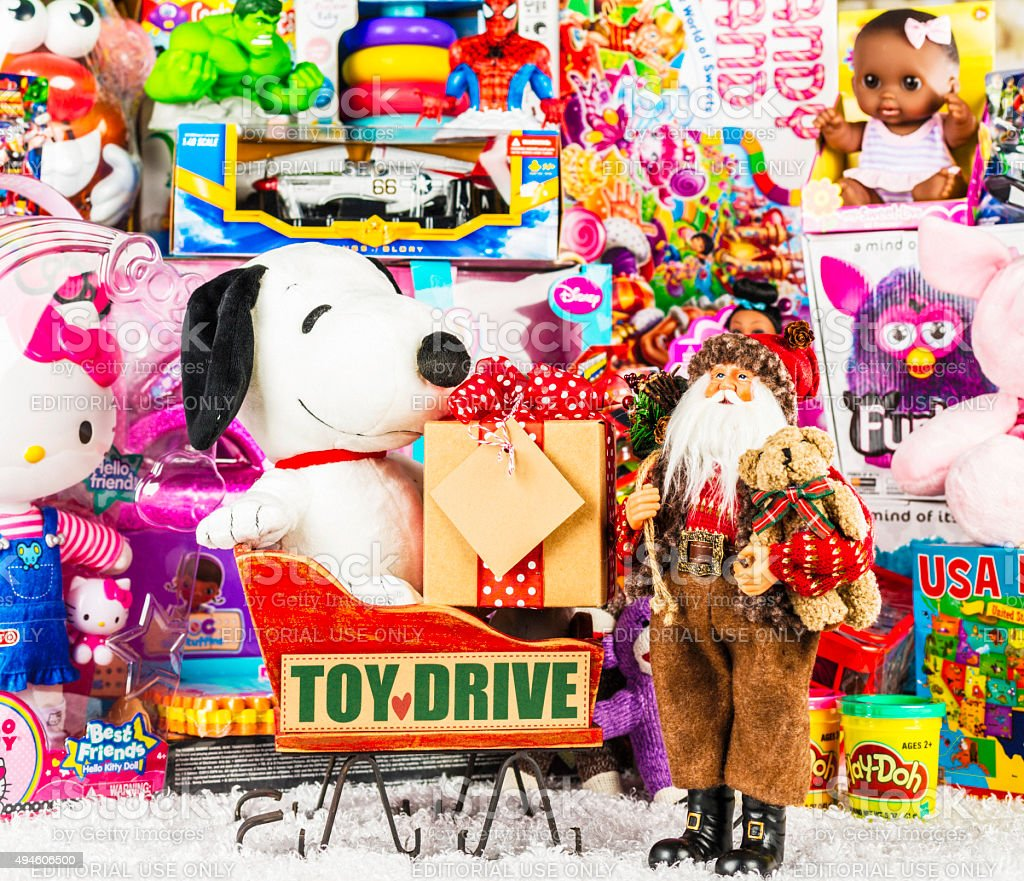 Christmas Toy Drive for Children stock photo