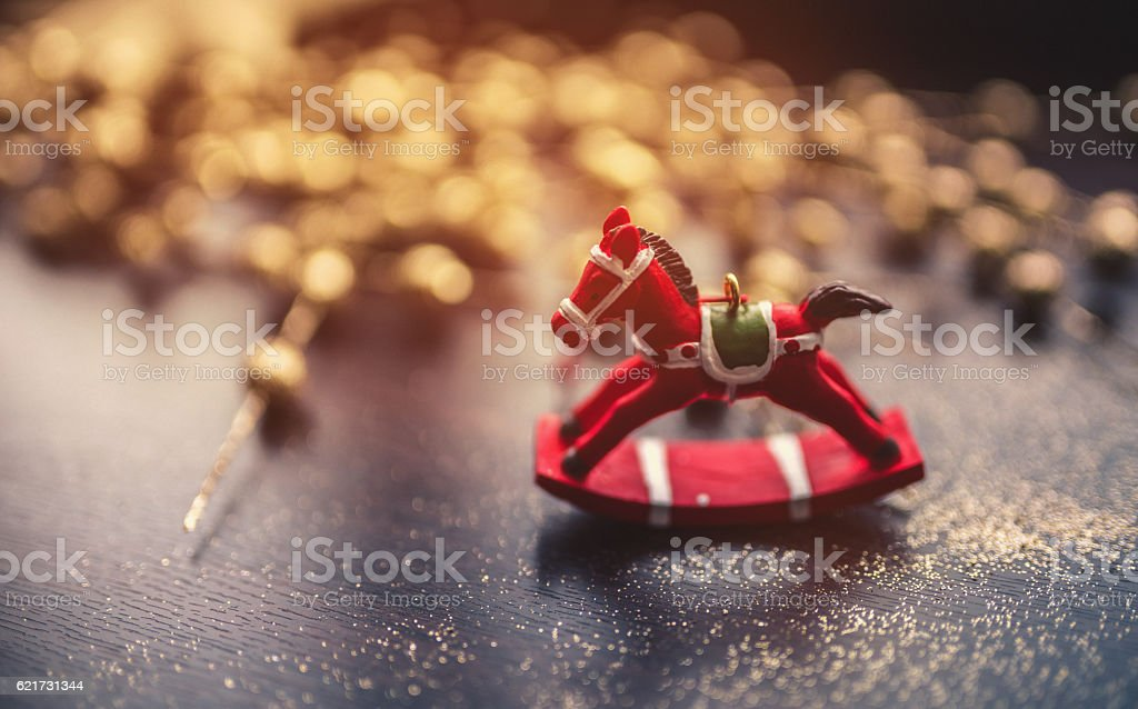 Christmas toys decoration stock photo