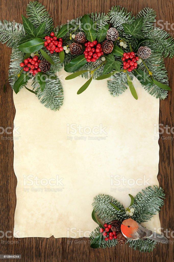 Christmas Traditional Border stock photo