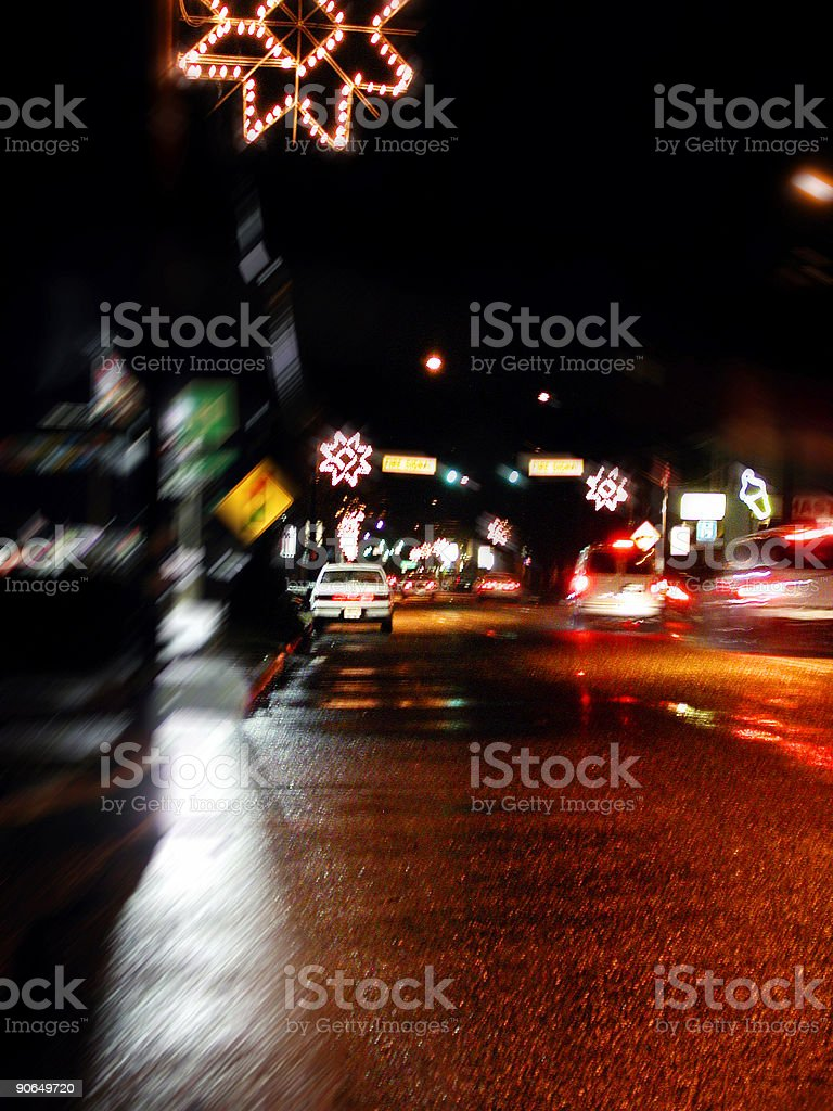 Christmas Traffic royalty-free stock photo