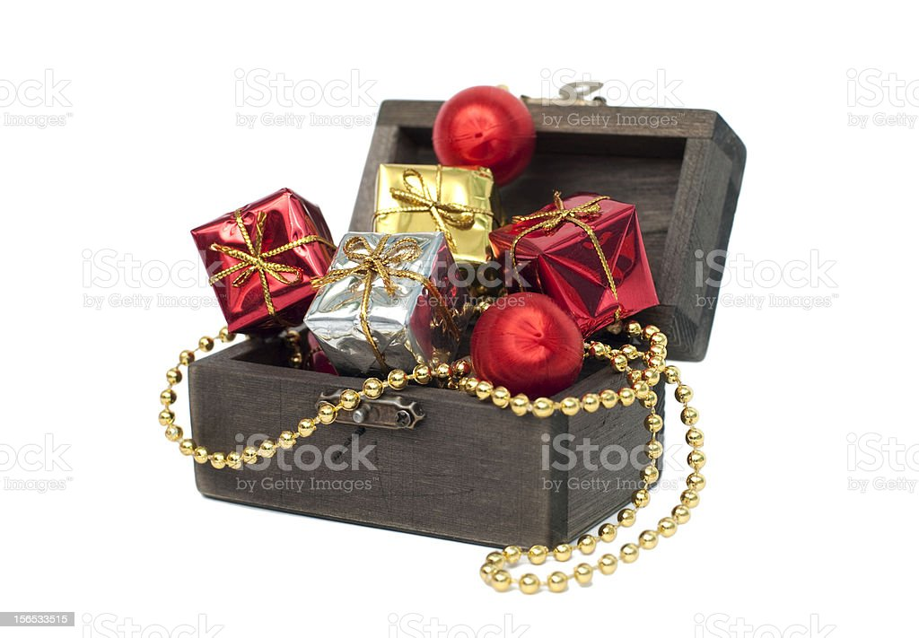 christmas treasure chest royalty-free stock photo