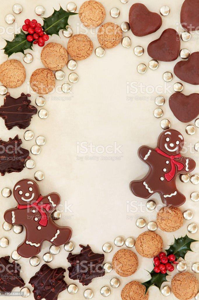 Christmas Treats Border stock photo