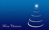 christmas tree abstract card