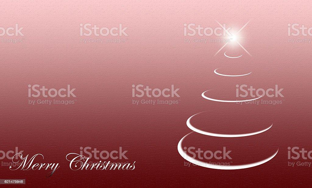 christmas tree abstract card stock photo