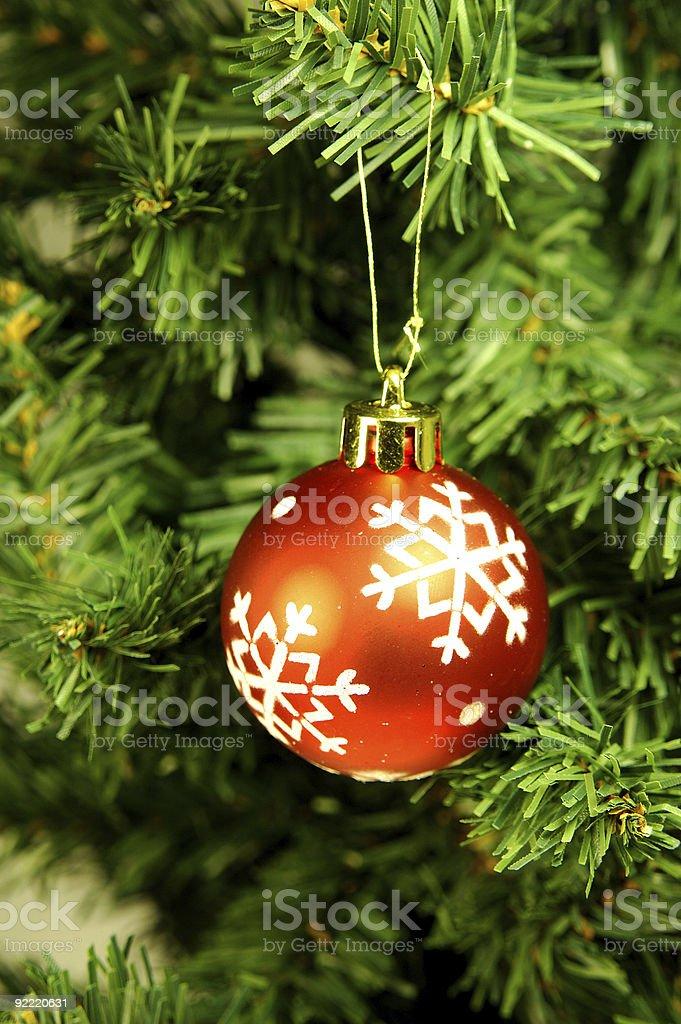 Christmas Tree and Decoration royalty-free stock photo