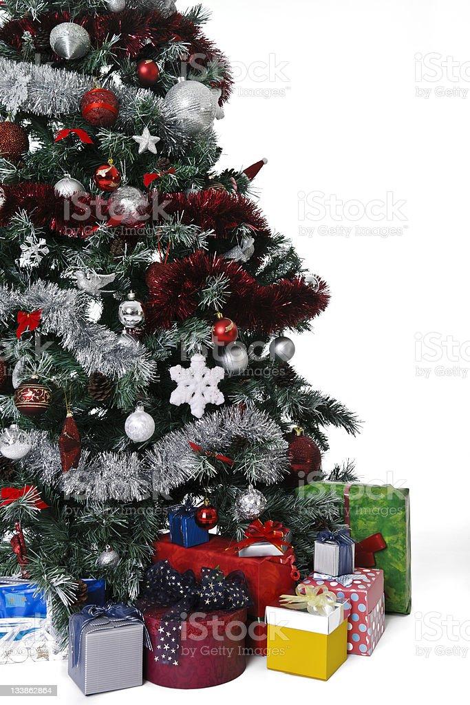 Sapin de Noël et cadeaux photo libre de droits