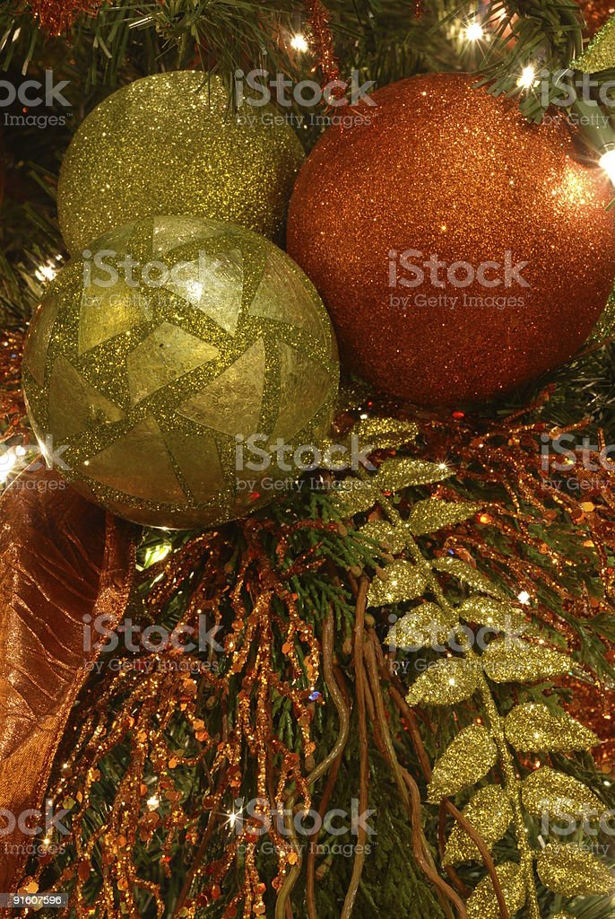 Christmas Tree and Ornaments II royalty-free stock photo