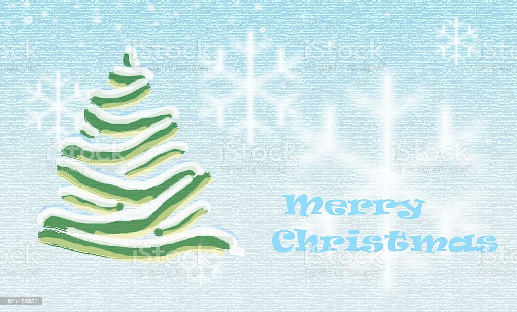 christmas tree aqua stock photo