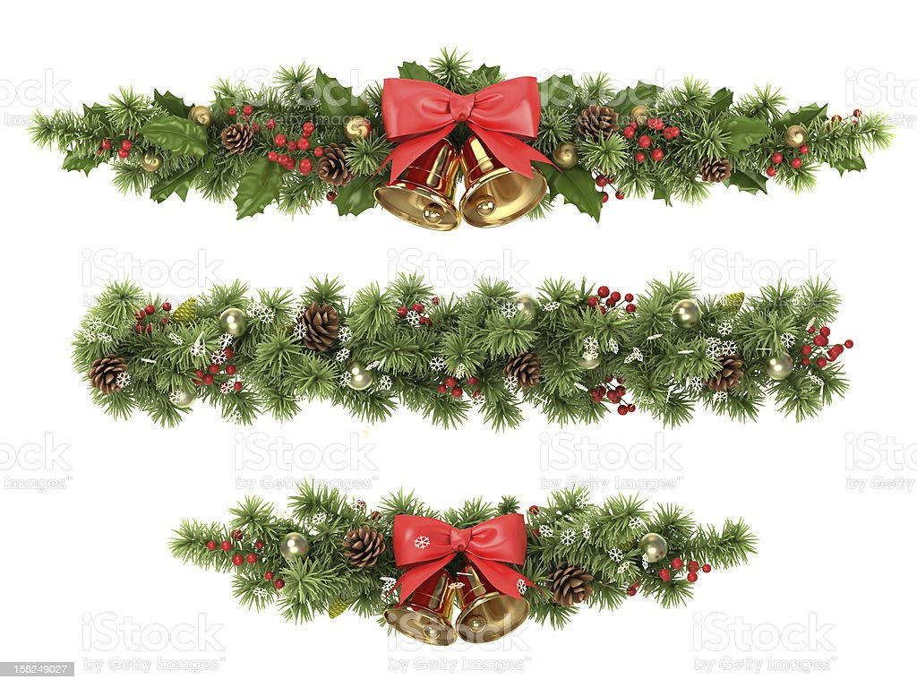 Christmas tree borders. stock photo