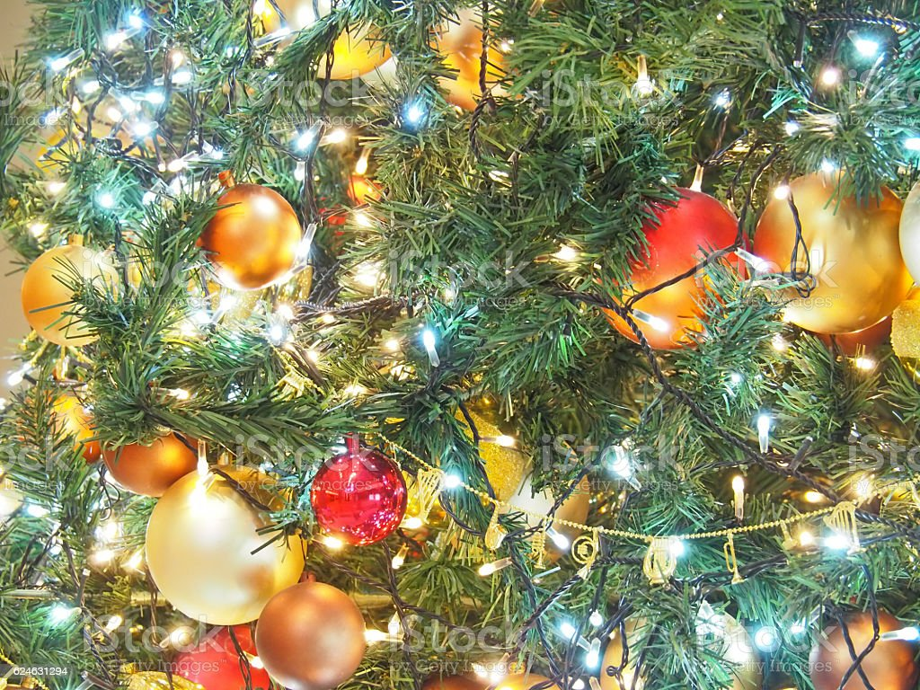 Christmas Tree, Bright And Dazzling stock photo