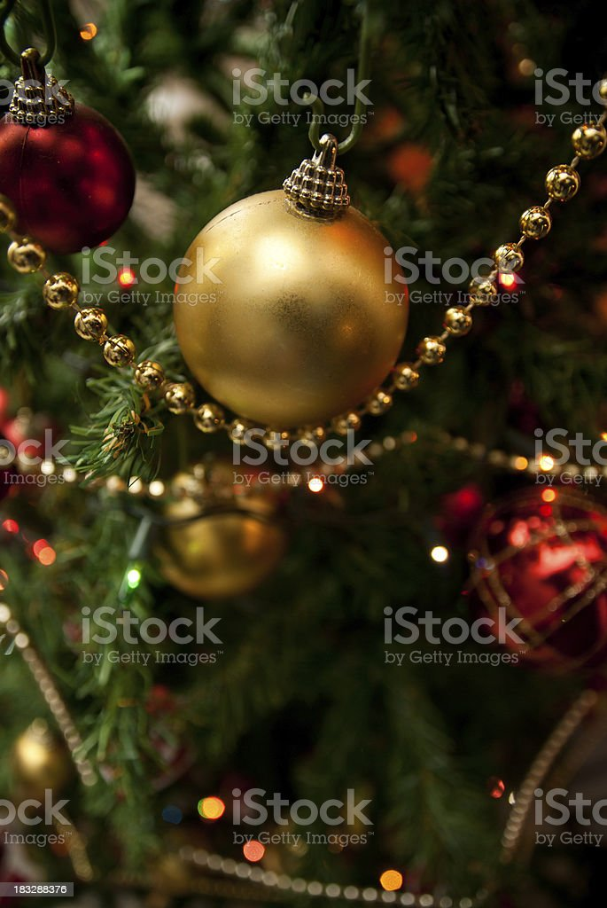 Christmas tree close-up stock photo