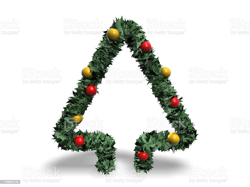 Christmas tree conceptual royalty-free stock photo