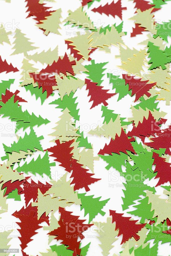 Christmas tree confetti stock photo