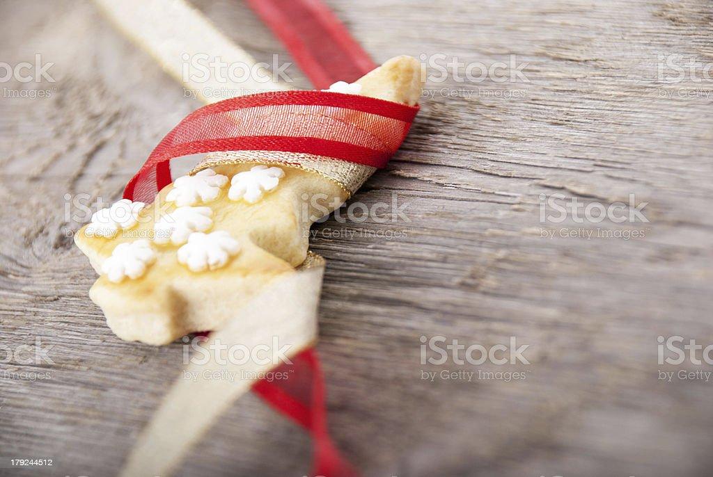 christmas tree cookie stock photo