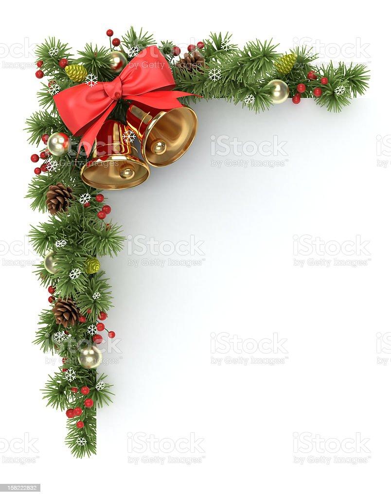 Christmas tree corner. stock photo