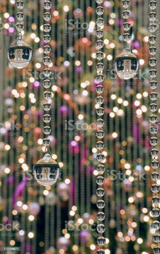 Christmas tree crystal ball surprise royalty-free stock photo