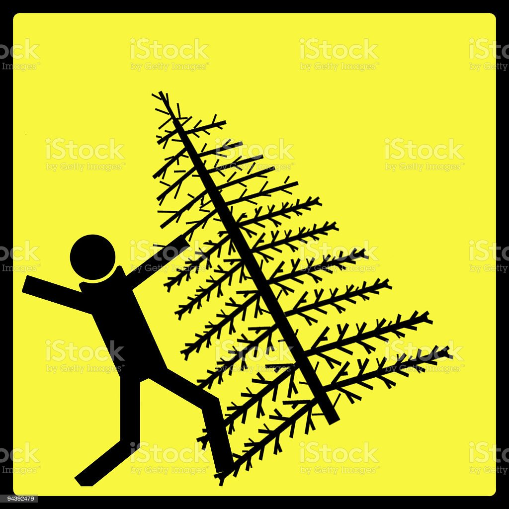 Christmas Tree Danger Sign royalty-free stock photo