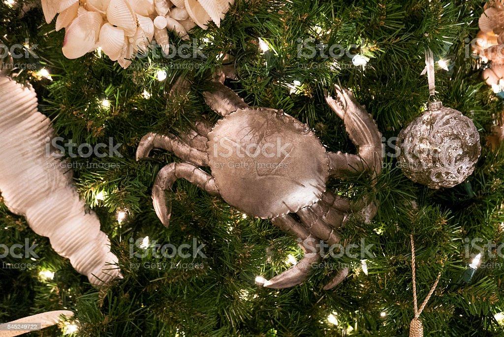Christmas tree decor stock photo
