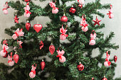 Christmas Tree Decorated background