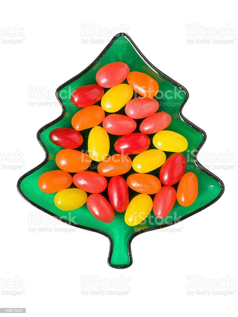 Christmas Tree Dish with Candy royalty-free stock photo
