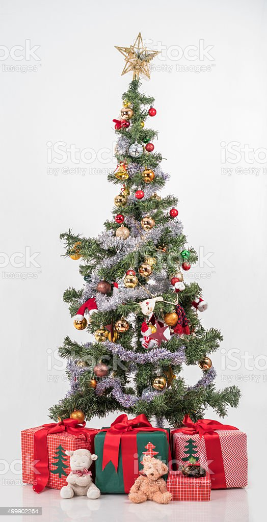 Christmas tree eco friendly ornaments, stock photo