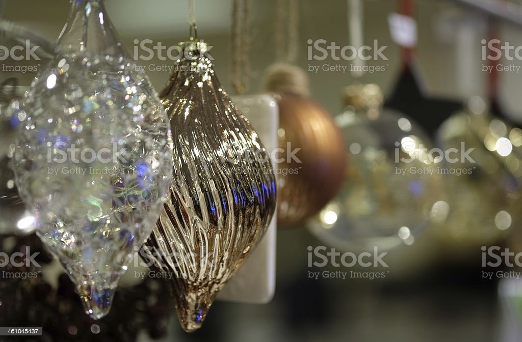 Christmas Tree Glass Baubles royalty-free stock photo