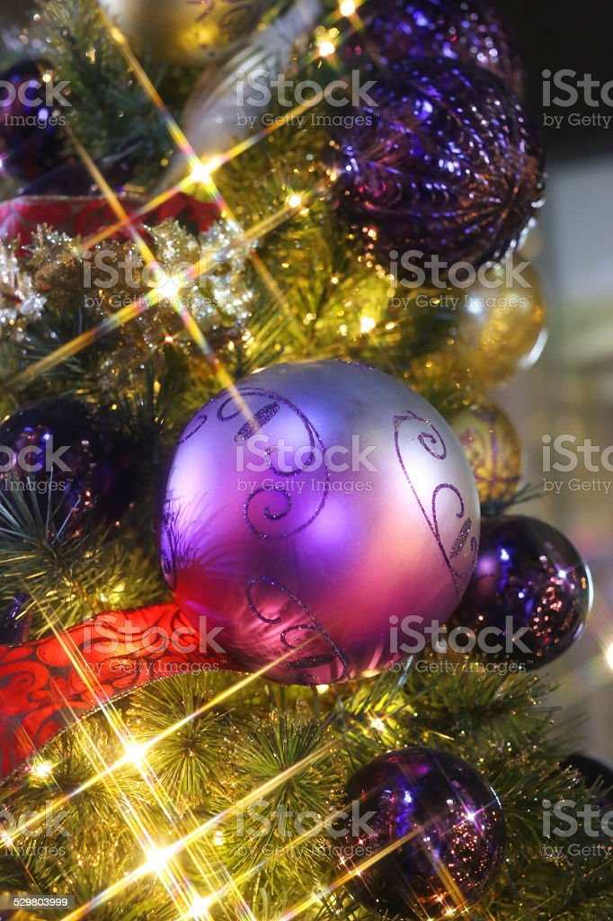 Christmas Tree Illuminated 7 stock photo
