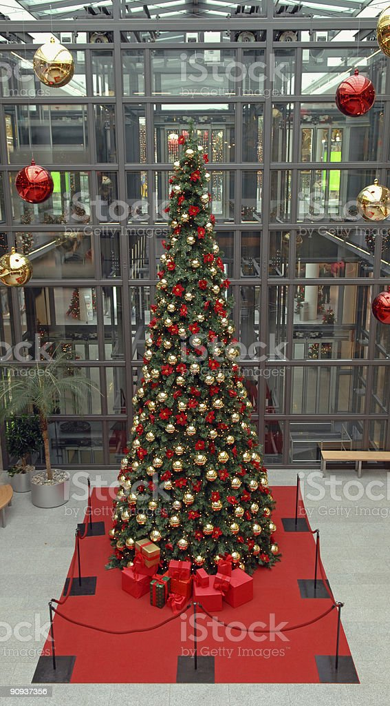 christmas tree in a shopping mall royalty-free stock photo