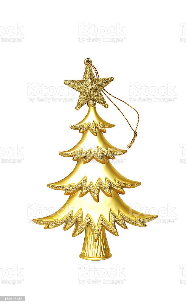 Christmas tree  isolated on the white background royalty-free stock photo