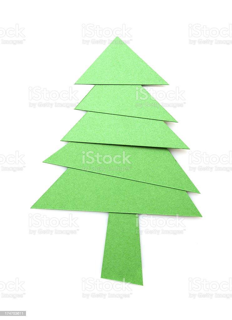 Christmas tree isolated on white background royalty-free stock photo