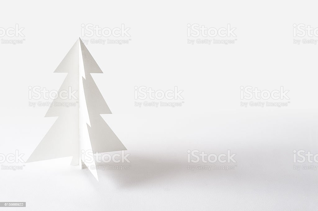 Christmas tree isolated on white background. stock photo