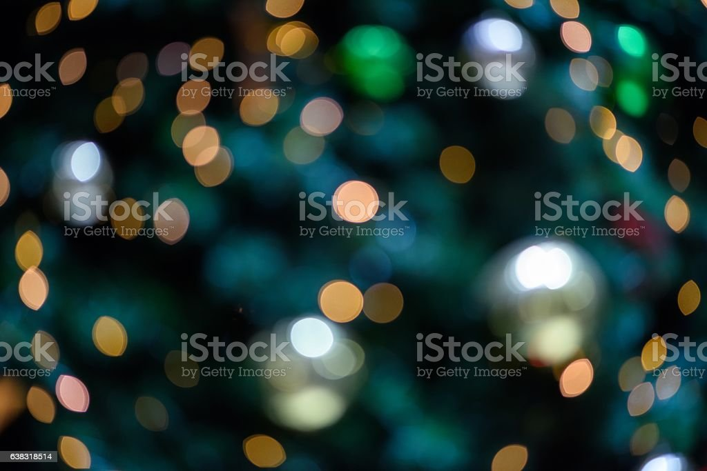 Christmas tree light spot background