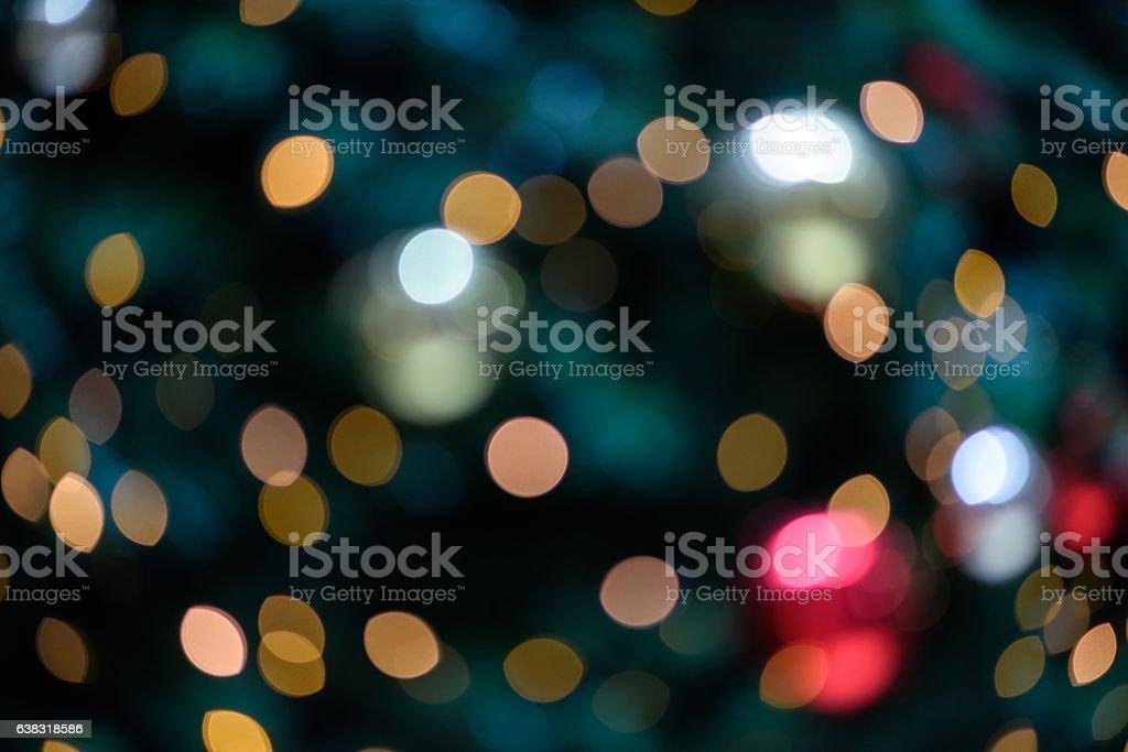 Christmas tree light spot background stock photo