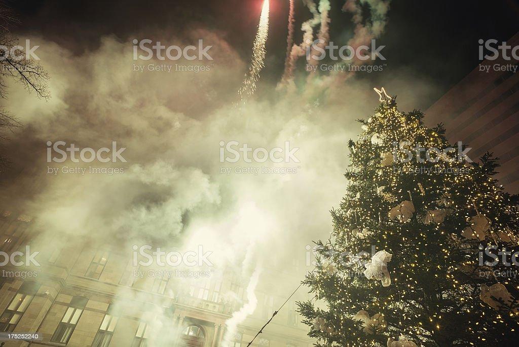 Christmas Tree Lighting Celebrations royalty-free stock photo