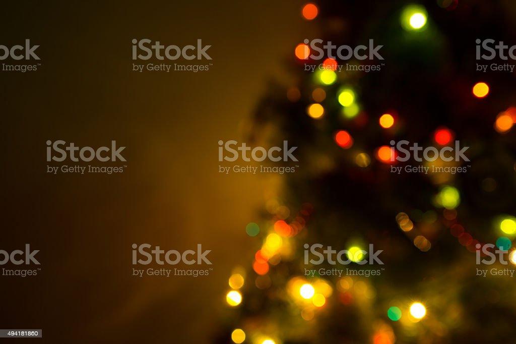 Christmas tree lights on black stock photo