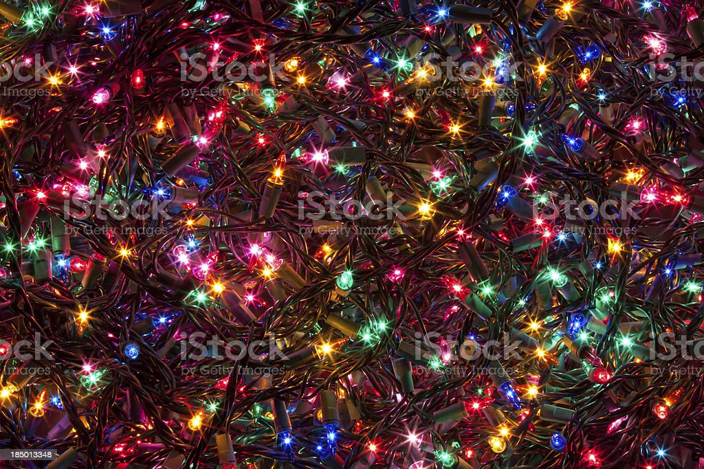 Christmas Tree Lights stock photo