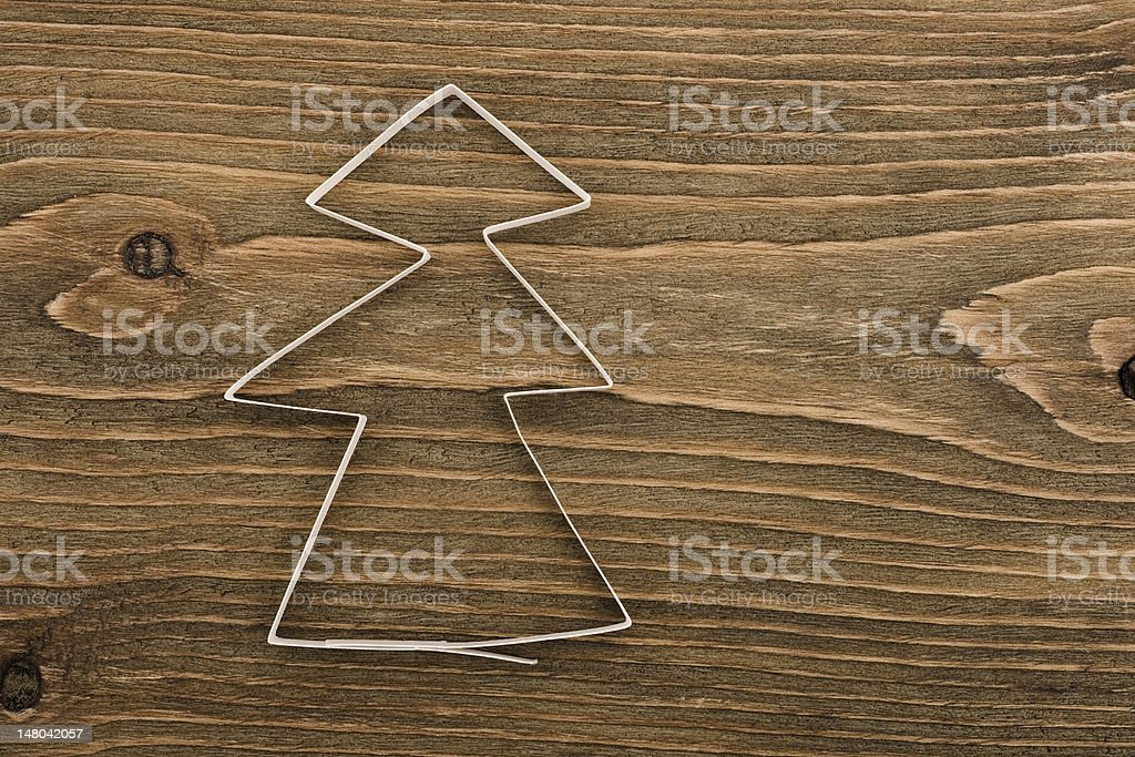 Christmas tree made of paper royalty-free stock photo
