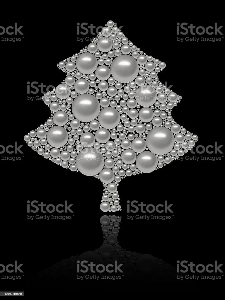 christmas tree made of pearls - digitally remastered stock photo