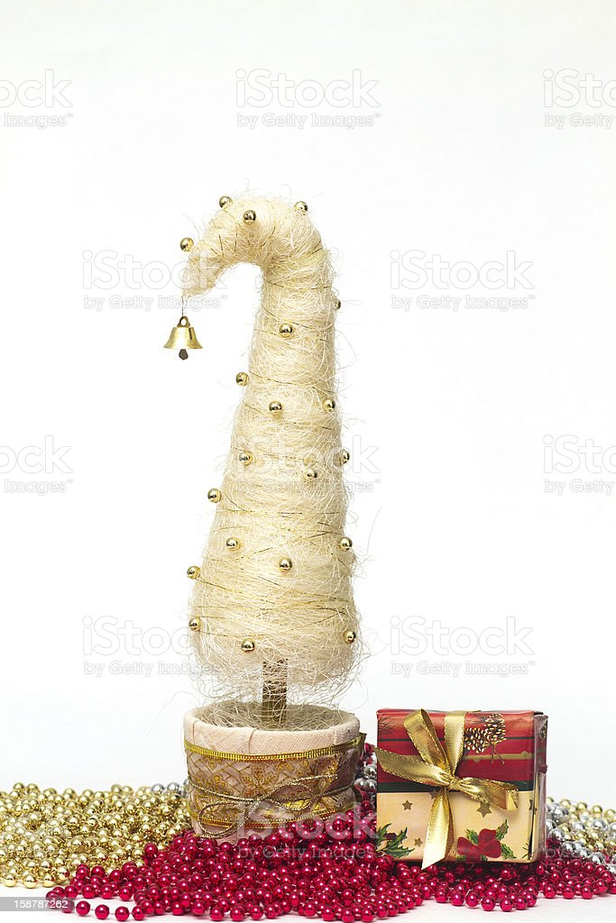 Christmas tree made of sisal royalty-free stock photo