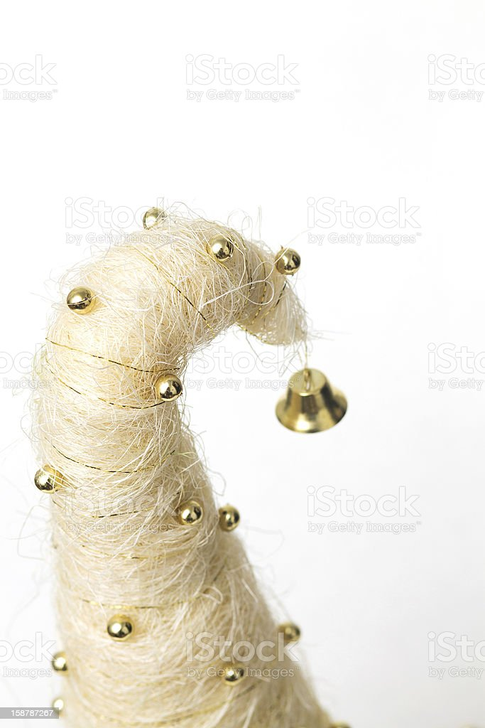Christmas tree made of sisal royalty-free stock photo