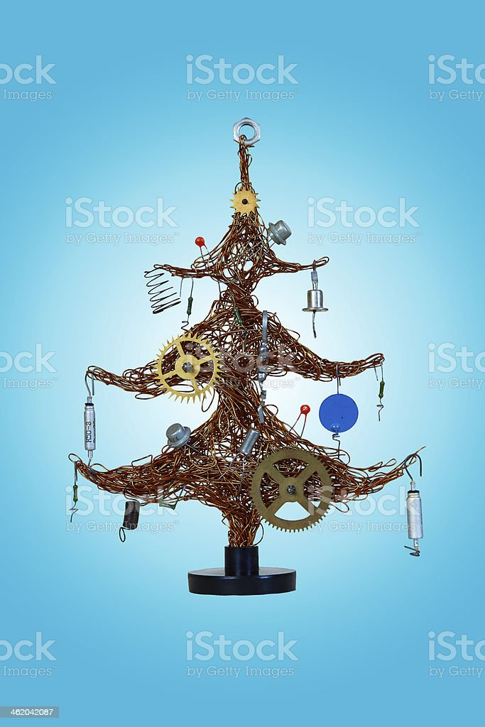 Christmas tree made of wire royalty-free stock photo