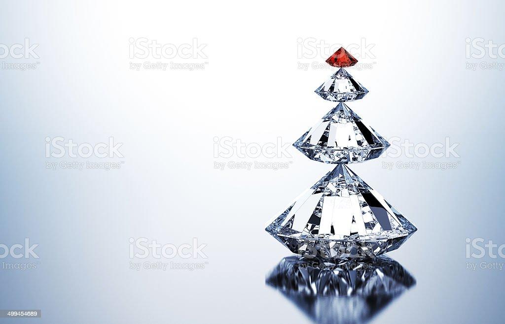 Christmas Tree Of Diamonds stock photo