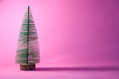 christmas tree on pink background