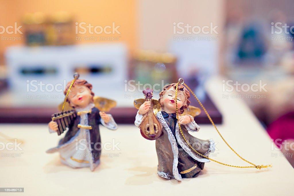 Christmas tree ornament, Angels royalty-free stock photo