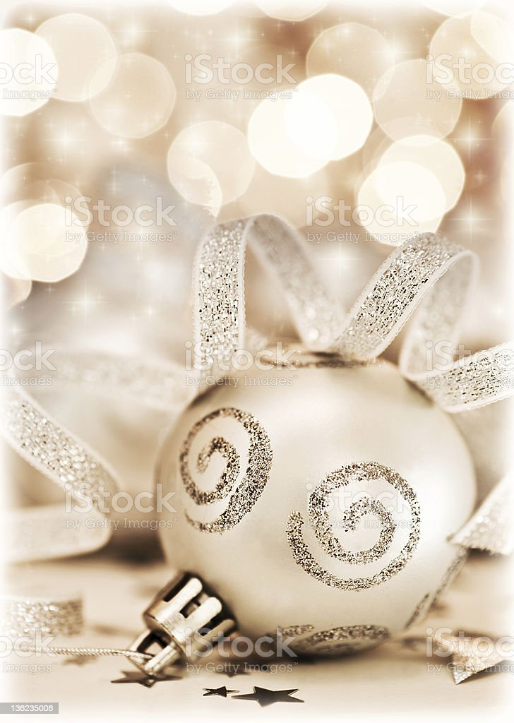 Christmas tree ornament, bauble decoration royalty-free stock photo